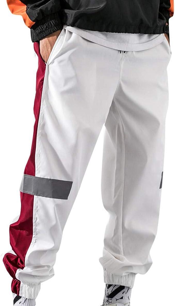 Hombres Pantalones Chandal Jogging Casuales Pantalón Deporte Raya ...