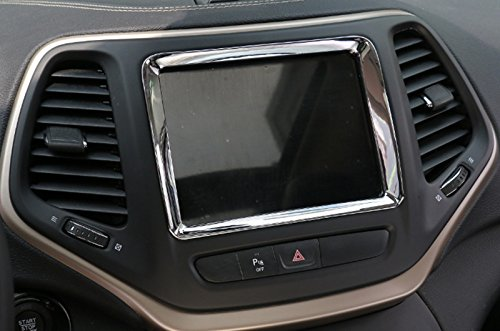 ABS Chrome Dashboard GPS Navigation Trim Cover for Jeep Cherokee 2014-2016