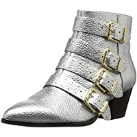 The Fix Womens Hazel 4 Buckle Strap Ankle Boot
