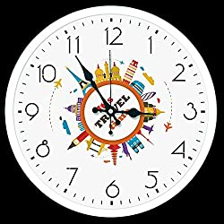 Paintsh Living Room Decorating Drawstring Table Modern Nordic Sofa Wall Hanging Picture Clock Dining Room Bedroom Study European Mural, 13 in, Ky1679 (White)
