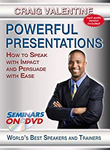 Powerful Presentations - How to Speak with Impact and Persuade With Ease - Seminars On Demand Presentation Speaking Skills Training Video - Speaker Craig Valentine - Includes Streaming Video + DVD + Streaming Audio + MP3 Audio - Works with All Devices