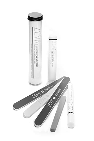 Amazon.com: ZEVA 5-piece Natural Nail Care File & Buffing System ...