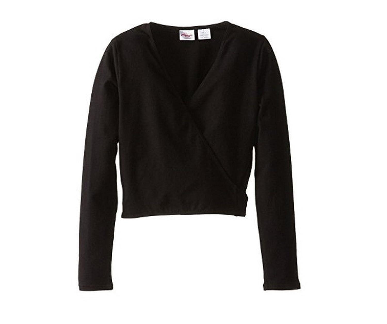 Capezio Kids Wrap Sweater, Black, Small