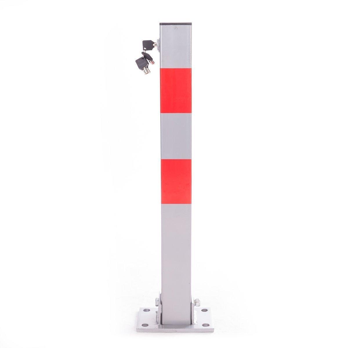 Ectxo Parking Barrier Post Security Post Lockable Rectangular Post Bollard