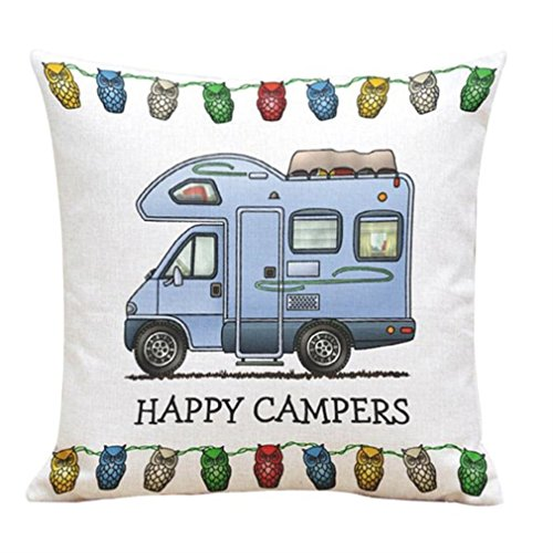 [Winhurn Lovely Cartoon Pillow Case Cushion Cover for Sofa Home Decorations (Blue)] (Halloween Free Shipping)