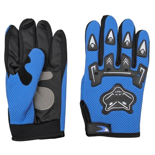 SODIAL(R) Pair Bicycle Bike Cycling Motorcycle Full Finger Gloves