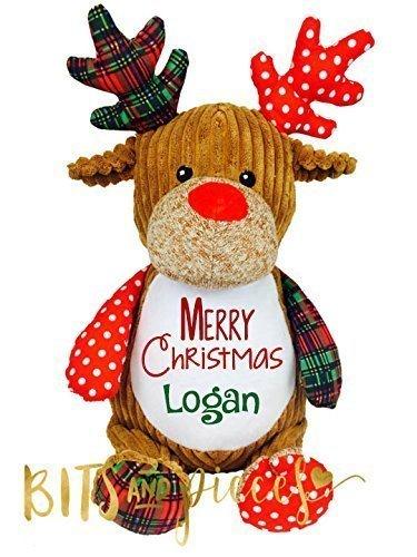 Amazon Com Cubbies Personalized Merry Christmas Stuffed Animal