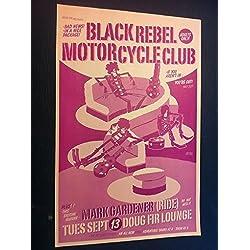 Black Rebel Motorcycle Club BRMC Rare Original 2005 Portland Concert Gig Poster