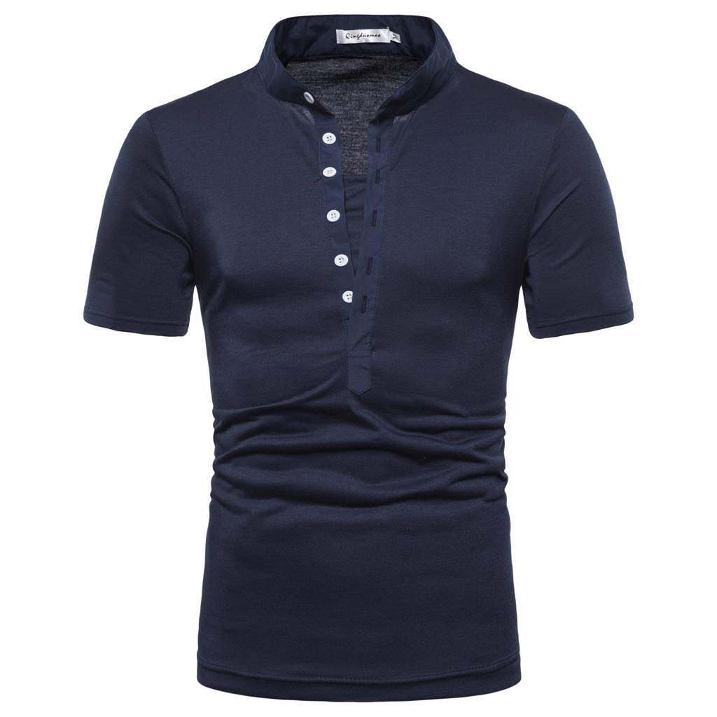 cb7de061d05d Pitauce Men s Sport Shirts Polo Shirt for Men Short Sleeve Solid Color  Performance Polo Sport Shirt Tops Tee for Men at Amazon Men s Clothing  store