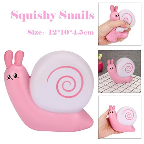 Quartly 1Pcs Jumbo Snails Squishy Slow Rising Squeeze Toy Stress Relief Simulation Kid Toy Gifts 12X10X4.5CM (A)