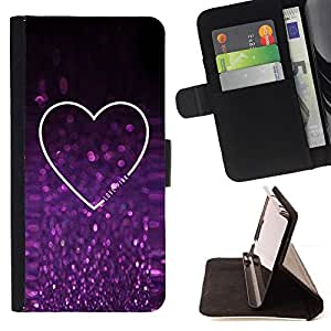 - Queen Pattern FOR Apple Iphone 6 PLUS 5.5 /La identificaci????n del cr????dito ranuras para tarjetas tir????n de la caja Cartera de cuero cubie - glitter purple sparkling heart