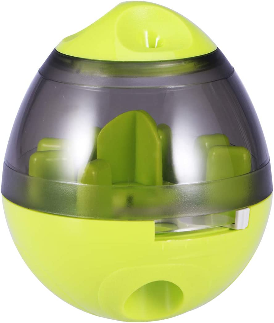 UEETEK Dog Treat Dispenser Ball, Interactive Tumbler Design Treat-Dispensing Ball Toy for Dogs and Cats Increases IQ Training Pet Play Ball