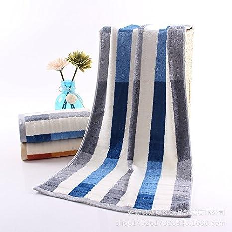 XXIN La Barra De Color para Aumentar Toallas Toallas De Baño Toallas De Baño Azul Grueso 38 * 90: Amazon.es: Hogar
