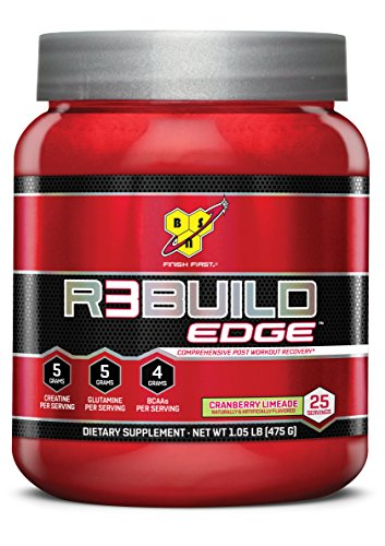 BSN 25 Servings R3Build Edge Post Workout Powders, Cranberry Limeade, 1.05 Pound