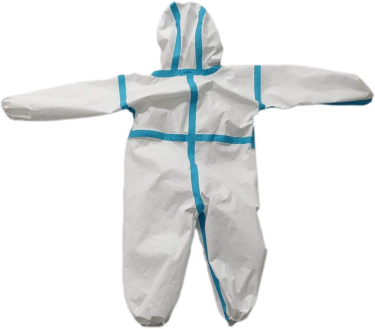 PAYLZWZY Einweg-Schutzkleidung f/ür Kinder und Erwachsene Vliesstoff-Einteiler mit Kapuze von Epidemien am ganzen K/örper Einweg-Schutzanzug wasserdichte Kleidung Overall Suit Workwear
