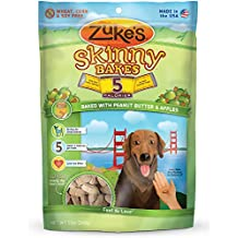 Zuke's Skinny Bakes Dog Treats, Peanut Butter and Apples, 5-Calories, 12-Ounce