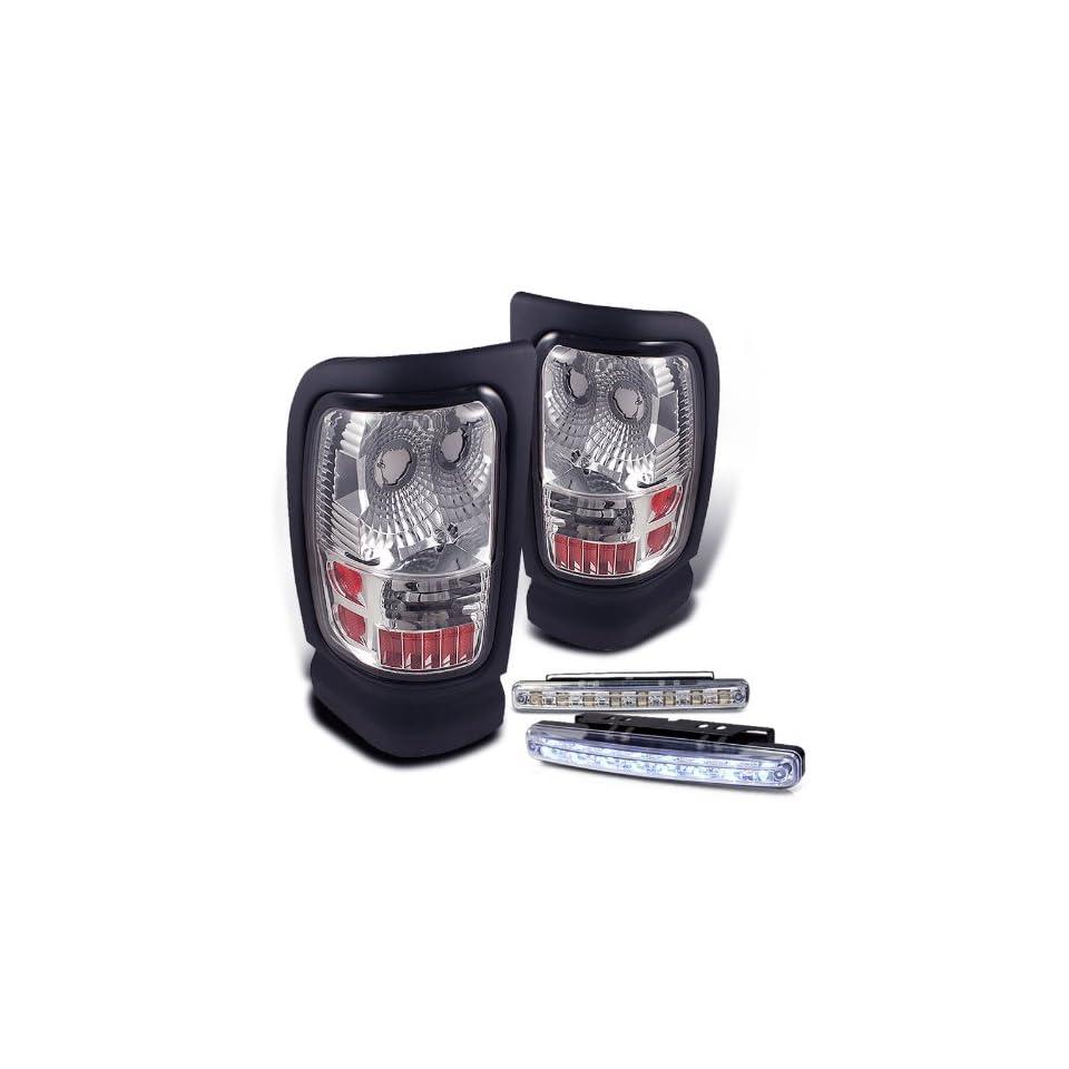 Eautolights 94 01 Dodge RAM Chrome Clear Tail Light 95 97 98 00 Brand