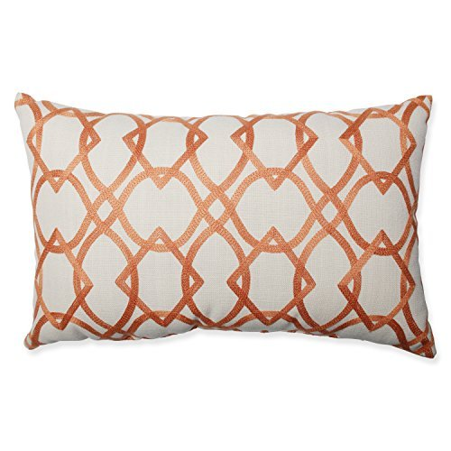 Pillow Perfect Forget Me Knots Tangerine Rectangular Throw Pillow [並行輸入品] B07RCWGVGX