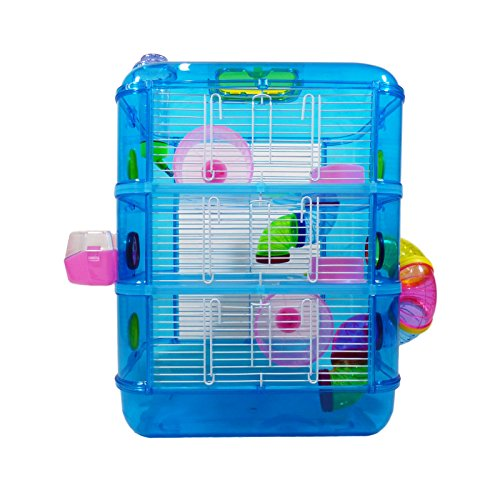 Hamster Cage   3 Story With Tubes   Perfect For Hamsters And Gerbils   M&W...