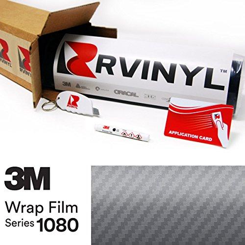 26' Carbon (3M 1080 CFS201 CARBON FIBER ANTHRACITE 5ft x 26ft W/ Application Kit Vinyl Vehicle Car Wrap Film Sheet Roll)