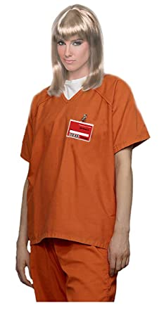 3e157ff4 Amazon.com: Female Prisoner Costume Orange Prisoner Costume Convict Costume  Costume: Clothing