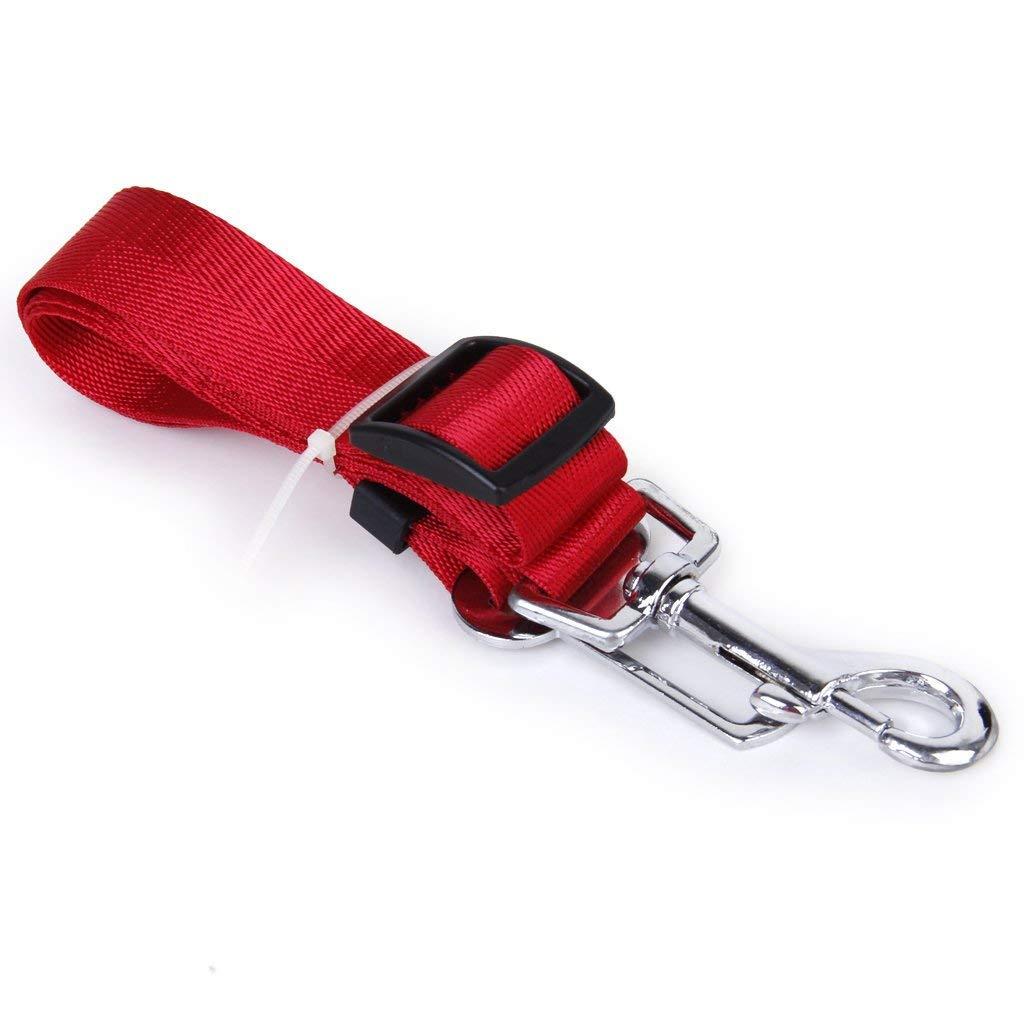 Potelin Dog Safety Seat Belt Restraint Adjustable for Car Van (Red)