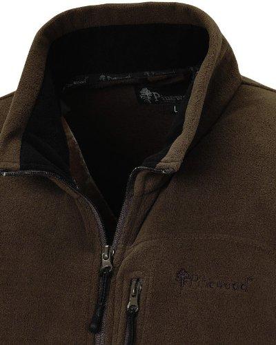 Pinewood Fleecejacke Nordkap, braun, Gr. 3XL