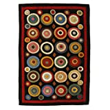 Homespice D?cor Penny Rug 2′ x 3'/Rectangle/Black For Sale