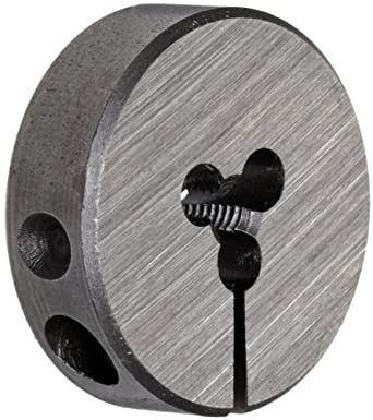 """Union Butterfield 2010(UNF) Carbon Steel Round Threading Die, Uncoated (Bright) Finish, 13/16"""" OD, #4-48 Thread Size"""