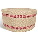 """Arts & Crafts : Wholesale Upholstery Supply Red Upholstery Craft Jute Webbing, 11 lbs 3.5"""" x 10Yd and 20 Yd rolls (20 yd)"""