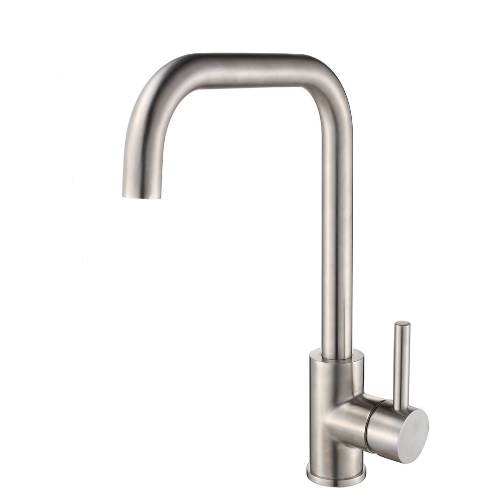 FLG 304 Solid Stainless Steel Kitchen Bar Sink Faucet Brushed Nickel