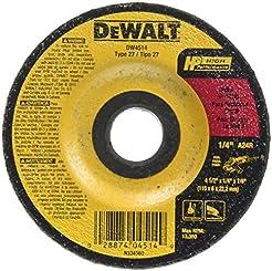 DEWALT DW4514 4-1/2-Inch by 1/4-Inch by ...