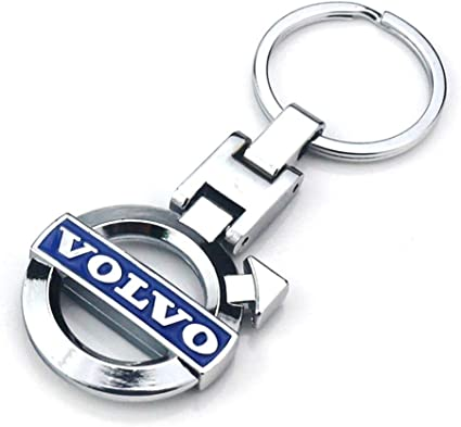 Volvo Car Logo Keychain Keyfob 3D Chrome Metal Car key Chain keyring