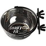 MidWest Homes for Pets Snap'y Fit Stainless Steel Food Bowl / Pet Bowl, 10 oz. for Dogs, Cats, Small Animals