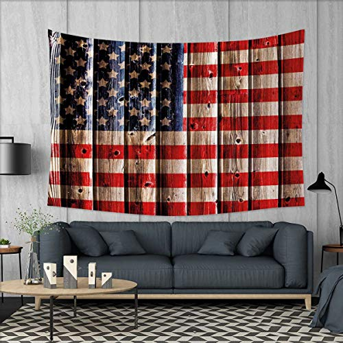 smallbeefly 4th of July Tapestry Wall Hanging 3D Printing Ru
