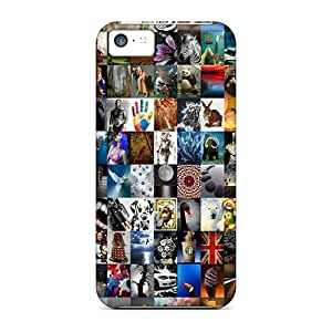 Fashion Tpu Case For Iphone 5c- Collage Defender Case Cover