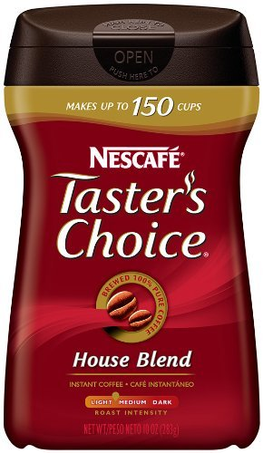 Nescafe Taster's Choice Original House Blend Instant Coffee, 10-Ounce Canisters (Pack of 3)