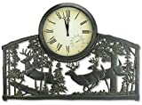 Whitetail Deer Bucks Outdoor Clock