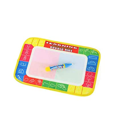 Firiodr Kids Patterns Edge Colorful Magic Water Canvas Graffiti Toys Drawing Mats Toys: Computers & Accessories
