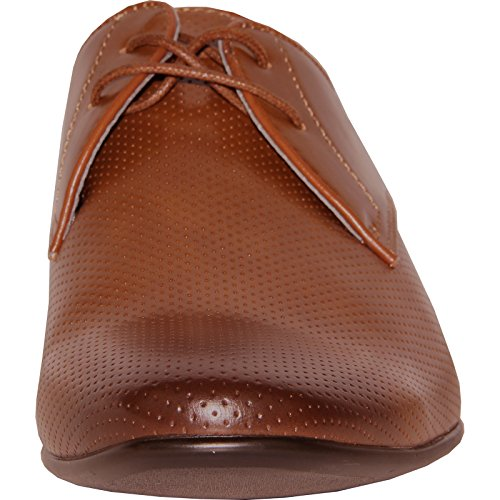 Bravo! Chaussure Habillée Homme Klein-1 Fashion Oxford Avec Doublure En Cuir - Tan Tan