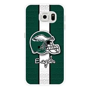 Samsung Galaxy S6 Case, Customized NFL Philadelphia Eagles Logo White Hard Shell Samsung Galaxy S6 Case, Philadelphia Eagles Logo Galaxy S6 Case(Not Fit for Galaxy S6 Edge)