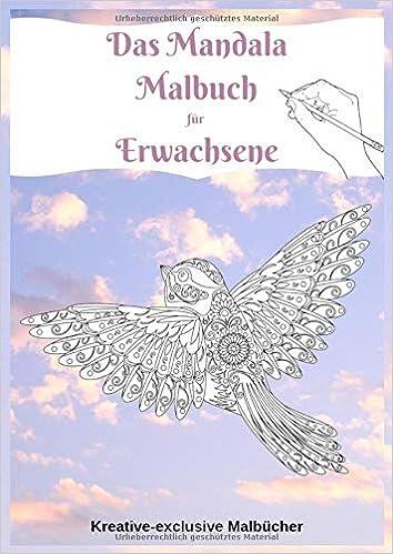 Das Mandala Malbuch Für Erwachsene Viele Verschiedene Vögel