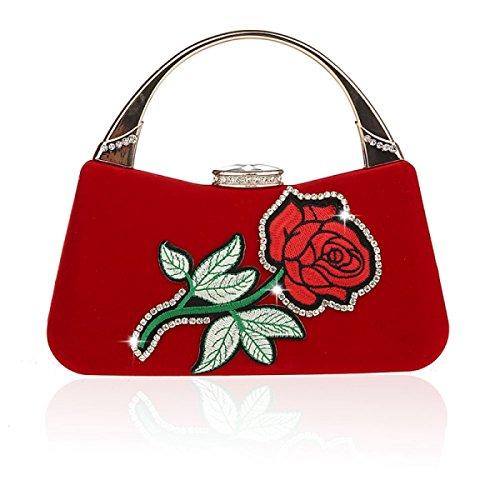 La Las De Tarde Mini Viste Bolsos Nupciales Muchachas Moda Black Red Embrague Los Flores Nuevos De De Las Bolsos Bolsos GSHGA De Bolsos De De Hombro YqXzI5f