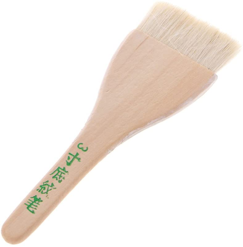 FATTERYU Handgrip Hair Goat Art Supplies Acuarela Acrílico Madera Madera Cepillo de Pintura de Madera Seis tamaños
