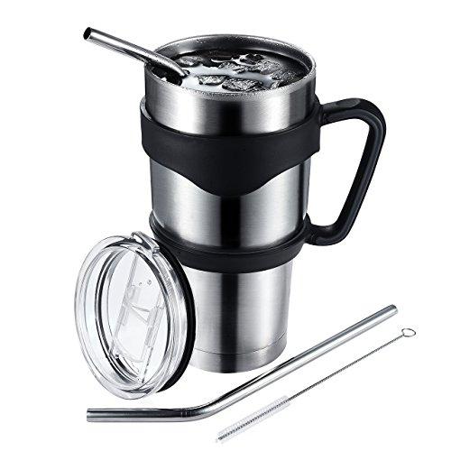 Primacc 30 Oz. Insulated Tumbler, Stainless Steel Coffee Travel Mug