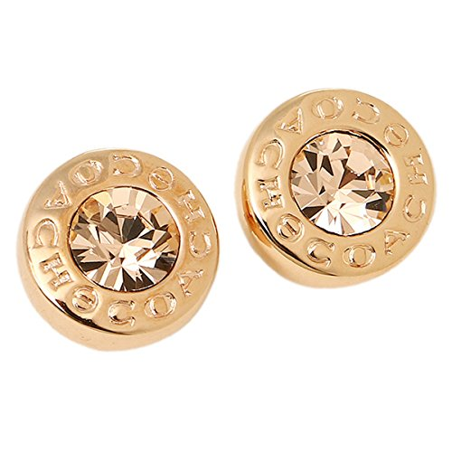 COACH GOLD OPEN CIRCLE STUD EARRINGS F54516 ()