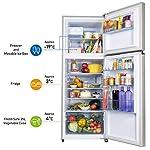 Panasonic 307 L 3 Star 6-Stage Inverter Frost-Free Double Door Refrigerator (NR-MBG31VSS3, Shining Silver, Jumbo…