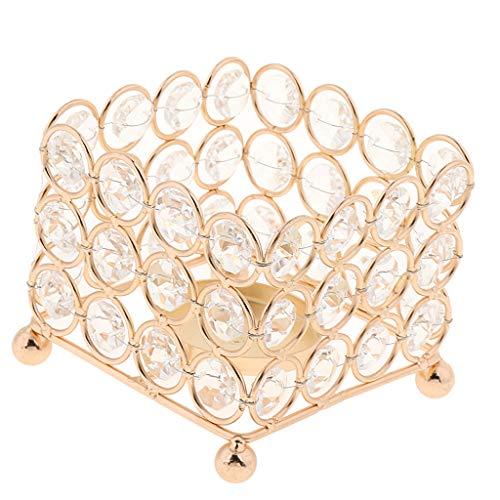 Dolity Porta Velas de Cristal Candelabro Luz de Humor Decoración Romántica de Boda