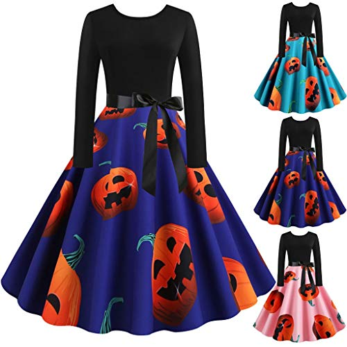 Clearance Halloween Dress, Forthery Womens Long Cocktail Swing