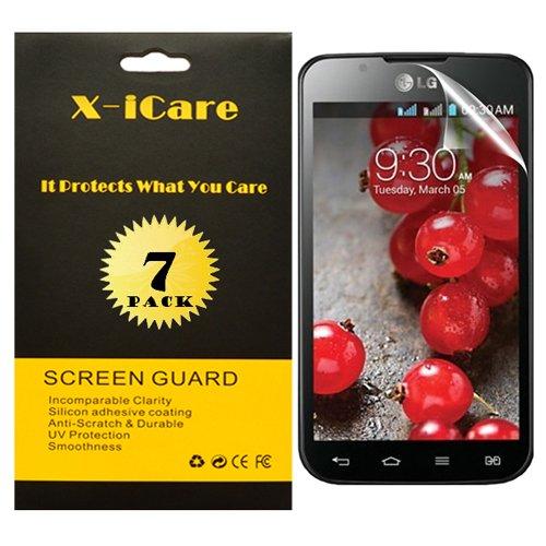 Ampiya X-iCare [7-Pack, HD Anti-Glare, Matte] for LG OPTIMUS L7 P715 Anti-Glare/Anti-Fingerprint Screen Protectors,Anti-Oil & Anti Scratch & Bubble free & Reduce Fingerprint & No rainbow [PET Film Made in Japan], Replacement Warranty
